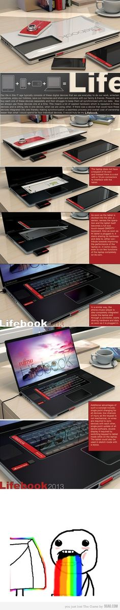 The Fujitsu Lifebook.  If it ever exists, I want this. http://imgur.com/gallery/ZaTRd