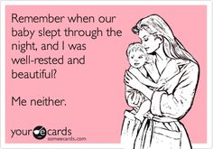 You KNOW you're sleep-deprived from baby care when you start creating e-cards. Me = sleep-deprived