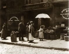 Little Italy in New York, 1890 ~ by Jacob Riis