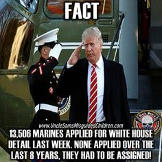 The people in the military are smart. They know a good President, like President Trump, when they see one. Who the hell would want to volunteer for an asshole like Obama? He hated our men and women. He had no respect for our military at all