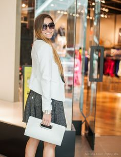 Black & White por Maud Gurunlian #Monochromatic #Fashion #Looks #Office #Work #Sunglasses