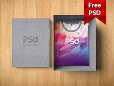 T-Shirt Box Packaging Mockup Free PSD  - 10