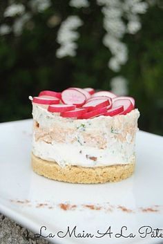 Cheesecake aux rillettes de saumon -