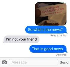 new ideas funny quotes humor laughing so hard text messages Funny Shit, Funny Texts Jokes, Text Jokes, Stupid Funny Memes, Funny Relatable Memes, Haha Funny, Funny Posts, Funny Quotes, Funny Stuff