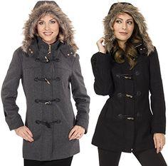 Alpine Swiss Women's Wool Coat Fur Tr... $49.99 #topseller