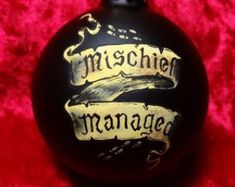 harry potter inspired ornament, mischief managed ornament