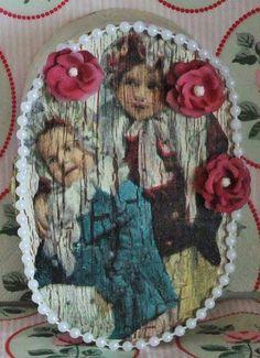 Kleine Schatulle mit Nadelkissen, Nostalgie von Monique-Marie auf DaWanda.com Etsy, Painting, Pin Cushions, Nostalgia, Handmade, Painting Art, Paintings, Painted Canvas, Drawings