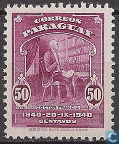 Stamps - Paraguay - 100th celebration death dictator Rodriguez de Francia 1940