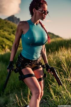 https://www.facebook.com/MakeItBurnNow Bianca Beauchamp as Lara Croft. 23 Hot Latex Cosplay Outfits