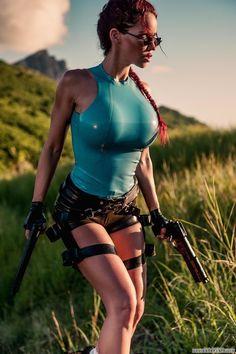 https://www.facebook.com/MakeItBurnNow Bianca Beauchamp as Lara Croft. 23 Hot Latex Cosplay Outfits