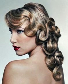 This is the long version of a retro style incorporates the .finger waves with knots and loops.