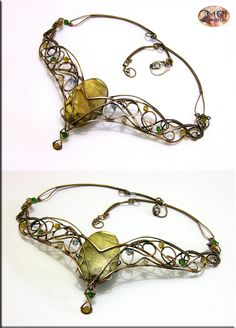 Babylon II v.2- wire wrapped necklace by mea00