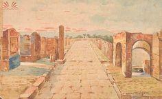 Título :Pompeia Artista :Annita Catarina Malfatti - Anita Malfatti - Anita Malfati Técnica :Técnica Mista Dim. :20 x 33 cm