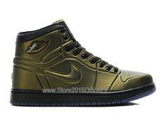 best sneakers eab29 a6714 Air Jordan 1 Anodized Foamposite - Chaussure Baskets Jordan Pour Homme  Châtain Noir 414823-301