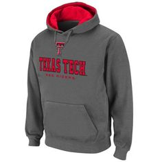 Colosseum Texas Tech Red Raiders Straight Logo Fleece Hoodie For Don