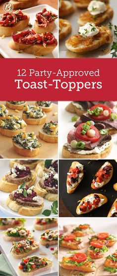 When it comes to topping toast, anything goes! Whether it's easy crostini or delicious bruschetta you're after, here are 12 inspiring ideas.
