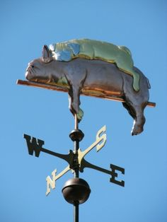 French Bulldog with Pug Weathervane by West Coast Weather Vanes