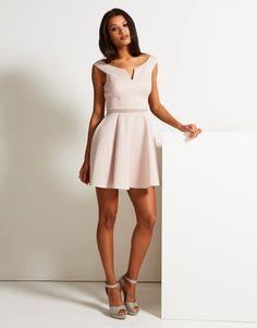 Lipsy Bardot Skater Dress