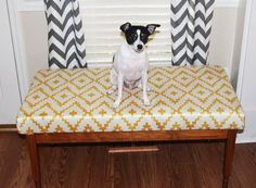 DIY: Turn a coffee table into an upholstered bench