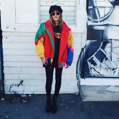 6fd764010651 Vintage 80's rainbow color block windbreaker jacket Colorful Windbreaker,  Retro Windbreaker, Windbreaker Outfit,. Depop