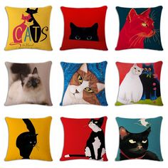 Cheap Price Cute Animals Pet Dog Pattern Cushion Cover For Sofa Home Decor Almofadas 45x45cm Decorative Throw Pillows Case In Stock To Produce An Effect Toward Clear Vision Home Textile Cushion Cover