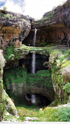 Check it out! A three-story #waterfall. Very cool. Let's put up an amishgazebos.com #gazebo and watch awhile...