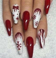 Cute Christmas Nails, Xmas Nails, Holiday Nails, Christmas Time, White Christmas, Holiday Makeup, Homemade Christmas, Beautiful Christmas, Christmas Ideas