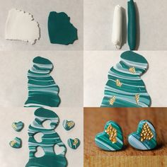Updates from StudioPickles on Etsy Polymer Clay Canes, Fimo Clay, Polymer Clay Projects, Polymer Clay Creations, Polymer Clay Jewelry, Clay Crafts, Crea Fimo, Diy Clay Earrings, Clay Design
