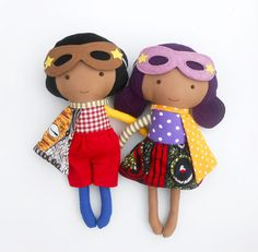 RAG DOLLS dolls fabric dolls afro american dolls by LaLobaStudio