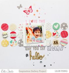 I love the way you say hello by Lilinfang at @Studio_Calico I love the circles and the gorgeous colors in this page!