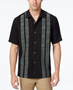 5dcc3c15 Tommy Bahama Men's Four Amigos Stripe Panel Silk Short-Sleeve Shirt, A  Macy's Exclusive Style & Reviews - Casual Button-Down Shirts - Men - Macy's