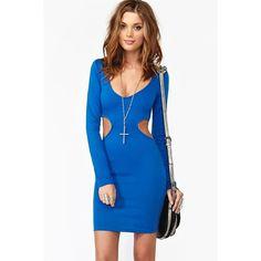Blaze Cutout Dress - Blue ($48) via Polyvore