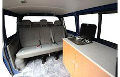 4. Heckmodul mit Bettfunktion und Stauraum VW T5 Innenansicht