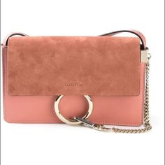 Chloé Faye bag NWT Chloe Faye bag in small. Pink with light rose gold sort of accents. Never used. Have tags, dust bag, certification. Sold out everywhere. The IT bag of the season. Less on ️️ Chloe Bags