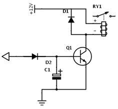 Aqui estão dois circuitos de retardos de relés, Time Delay, Time Delay Relay On e Time Delay Relay Off, ou seja um relé com retardo para desligar e ligar.