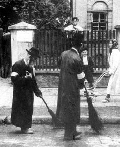 Cracow, Poland, Forced Labor, Jews Sweeping the Streets