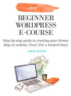 Free beginner WordPress e-course: A step-by-step guide to creating your dream… Marketing Online, Marketing Digital, Content Marketing, Internet Marketing, Media Marketing, E Learning, Web Design, Media Design, Make Money Blogging