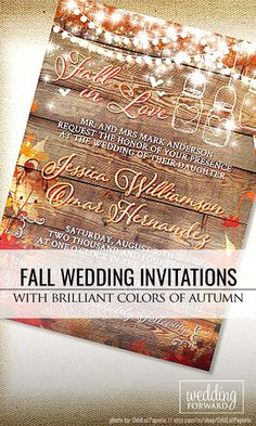 Fall Wedding Invitations With Brilliant Colors Of Autumn ❤ Fall wedding…