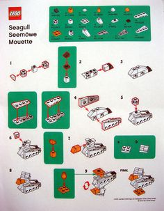 LEGO MMMB - August '10 (Seagull) Instructions by TooMuchDew, via Flickr