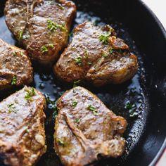 Lamb Loin Chops In The Oven - Cooking LSL Lamb Chops Oven, Oven Baked Pork Tenderloin, Lamb Loin Chops, Marinated Pork Chops, Marinated Mushrooms, Lamb Chop Recipes, Cabbage Soup Recipes, Meat Recipes, Recipes