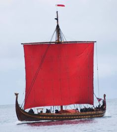 Viking Ship Draken Harald on the coust of Reykjavík, Iceland! The biggest Viking Ship in the world was built in Norway and will stay in Reykjavik for a couple of days before sailing out again to Greenland, USA and Canada