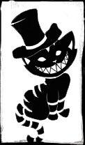 looks like the Chesire Cat(: