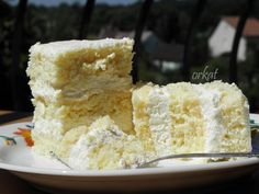 Habkönnyű citromos-krémes szelet Krispie Treats, Rice Krispies, Cake Cookies, Vanilla Cake, Food And Drink, Dessert Recipes, Cooking, Cakes, Food
