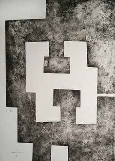 Bid now on La Nuit (from Le Plus Beau Cadeau) by Eduardo Chillida. View a wide Variety of artworks by Eduardo Chillida, now available for sale on artnet Auctions. Art Works, Abstract Art Painting, Contemporary Abstract Art, Art Painting, Prehistoric Art, Abstract Drawings, Famous Art, Abstract Sculpture, Prints