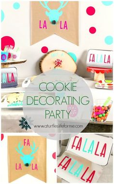 Christmas Cookie Decorating Party with Cricut - A Turtle's Life for Me