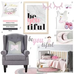 Beautiful swan nursery design ideas to bring elegance and grace to a little lady's nursery or bedroom. Design includes suggested colour palette and ideas