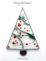 Image result for fused glass christmas trees