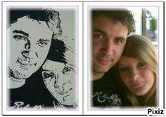 Portrait graphique sur toile 30×40 https://www.facebook.com/purjuacrylique