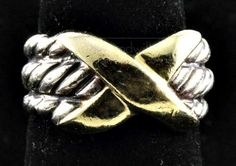 shopgoodwill.com: DAVID YURMAN 14K Sterling Silver Ring size 4 1/2
