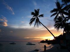 bohol island philippines | Philippines Central Visayas Bohol Panglao Island Sunset Dec 2005 06